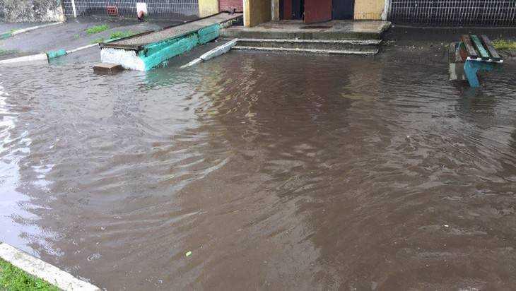 Московский микрорайон Брянска затопило после ливня