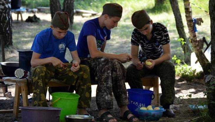 Юные патриоты прошли школу мужества в лагере под Брянском