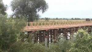В Трубчевском районе за месяц построили деревянный мост через Десну