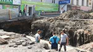 Брянские строители предотвратят сползание лестницы на бульваре Гагарина