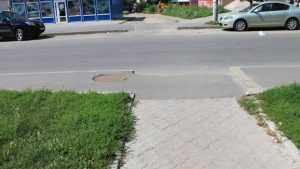 Чиновников заставили доделать «зебру» на улице Союзной в Брянске