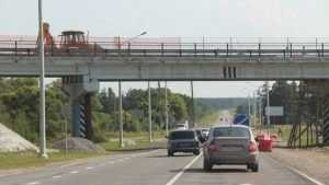 На брянском участке трассы «Украина» начали ремонт аварийного моста