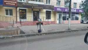 Брянские гаишники прогнали сторожа с тротуара
