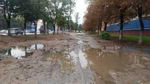 Жители Брянска потребовали избавить их от грязи и разрушенных тротуаров