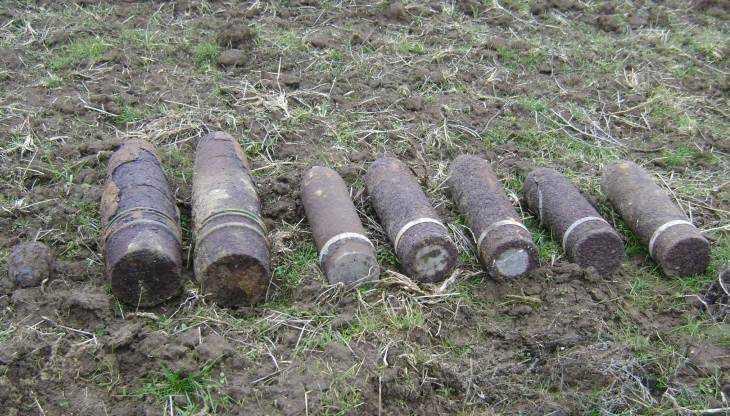 В Погарском районе Брянской области обнаружили семь снарядов