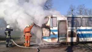 На брянской трассе загорелся рейсовый автобус «Орёл – Смоленск»