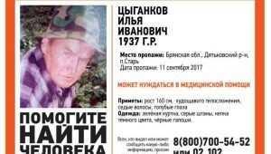 Пропавшего неделю назад 80-летнего брянца Илью Цыганкова пока не нашли