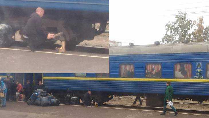 В Брянске сняли украинского проводника с топором и дровами на перроне