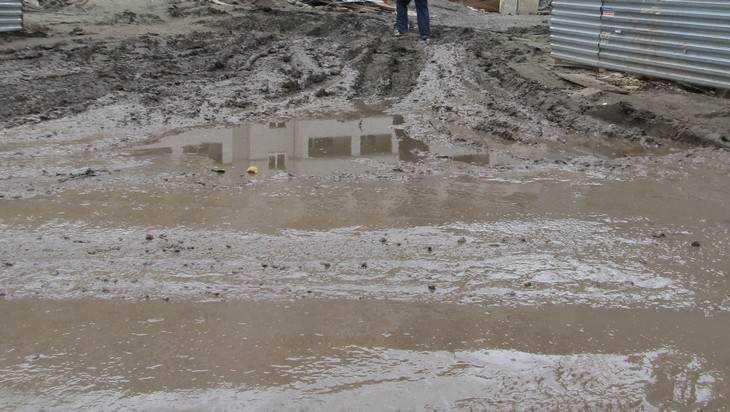 В Брянске нашли источник «лечебной» грязи в переулке Пилотов