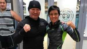 Брянская дзюдоистка Кузютина провела тренировку с президентом Монголии