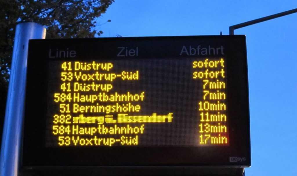 Пассажирам Брянска пообещали электронные табло на остановках