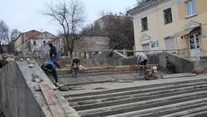 В Брянске взбунтовались строители лестницы на бульваре Гагарина
