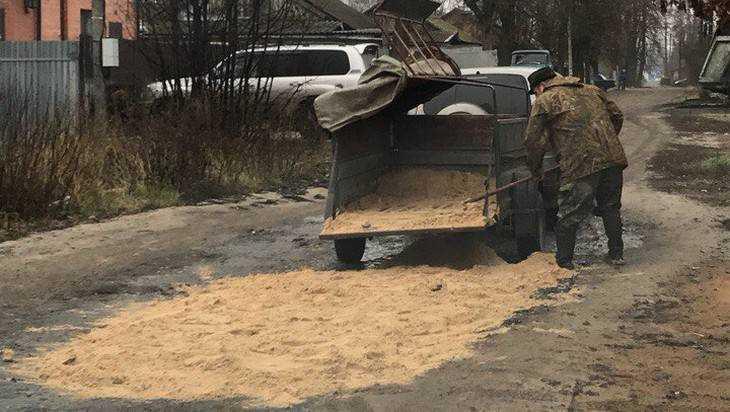 В Брянске водитель самостоятельно отремонтировал дорогу