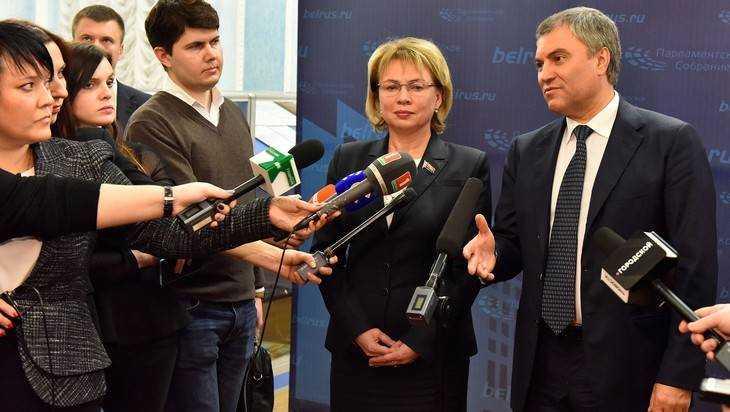В Брянске глава Госдумы Володин сказал о воле России и Белоруссии