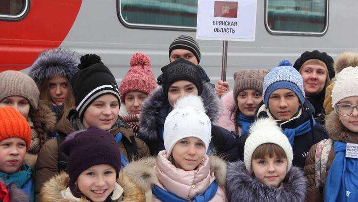 Брянские дети поехали к Путину на Кремлёвскую ёлку