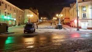 В Брянске лестницу на бульваре Гагарина осветят 34 фонарями