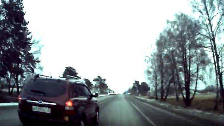 В Брянске сняли видео об опасном вождении лихача