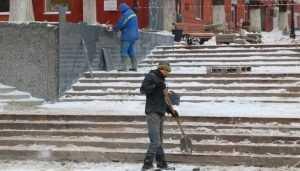 В Брянске лестницу на бульваре Гагарина «одели» в карельский гранит