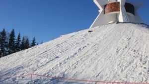 В Брянске  запретили кататься по снегу со склонов Кургана Бессмертия