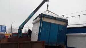 В Брянске с начала года снесли 18 самовольно установленных ларьков