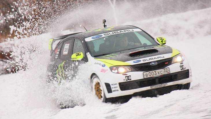 В Брянске автогонщики вышли на ралли-спринт «Зима – 18»