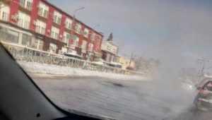 В Брянске из-за прорыва канализации утонул проспект Станке Димитрова