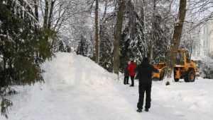 В Круглом сквере Брянска детям сделают трехметровую снежную горку