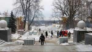 В Брянске возобновили отделочные работы на бульваре Гагарина