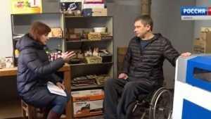 В Почепе инвалид Громадный открыл мастерскую сувениров