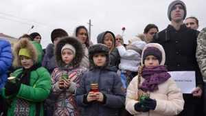 Брянцы на митингах выразили сочувствие жителям Кемерова