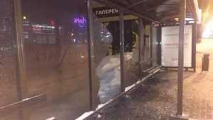Вандалы разгромили остановку в Брянске возле «Аэропарка»