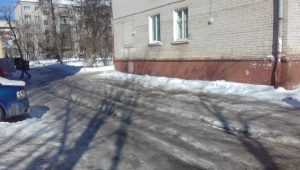 Брянцам по пути на выборы пришлось преодолеть ледяную полосу препятствий