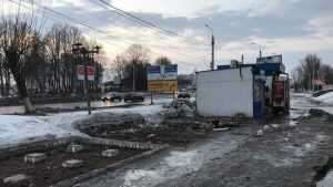 В Брянске возле «Электроники» снесли ряд киосков