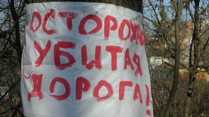Прокуратуру Брянска попросили покарать чиновников за разбитые дороги