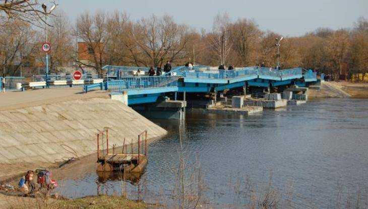 В Брянске из-за паводка понтонный мост через Десну закроют с 9 апреля
