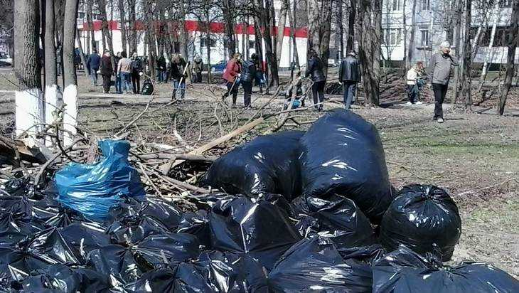 В Брянске владельцы магазинов после критики властей стали убирать мусор