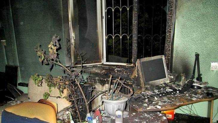 В  Брянскае в Фокинском районе из-за компьютера загорелся офис