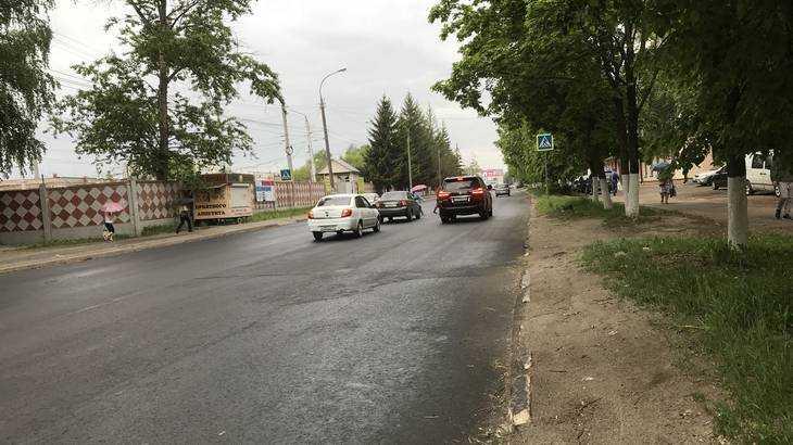Почти завершен ремонт самой разбитой дороги в центре Брянска
