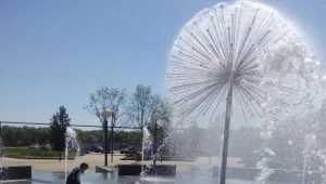 В Брянске возобновилась работа сломанного фонтана на набережной