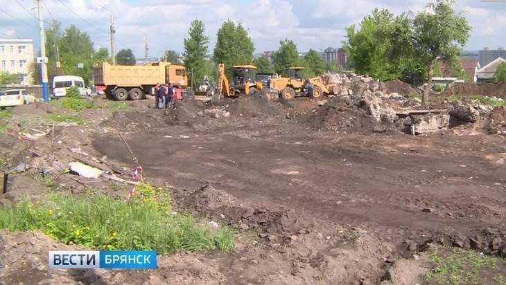 В Брянске начались работы на Городищенской горке