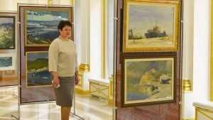 В Брянске открыли выставку художников, посвященную Крымскому мосту