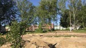 В брянском поселке Локоть начали строить Сиреневый сквер