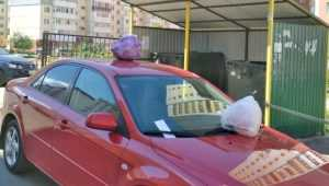 Жители Брянска грязно отомстили водителю за парковку возле мусорки