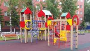 Минобороны подарило детскую площадку брянскому городу Карачеву