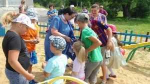 В Рогнединском районе открыли детскую спортивно-игровую площадку