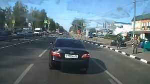 В Брянске сняли видео о лихом водителе из администрации города