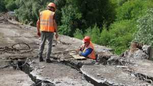 В Брянске рабочие стали разбирать старую часть Первомайского моста