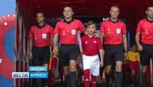 Брянский школьник поучаствовал в церемонии чемпионата мира по футболу
