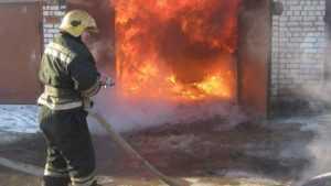 В Володарском районе Брянска сгорел гараж с автомобилем