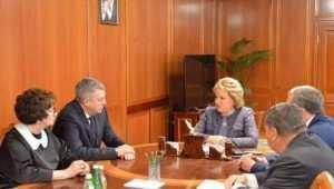 Валентина Матвиенко поздравила брянцев с днём образования области